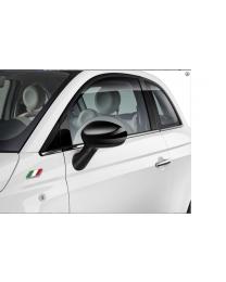 Fiat 500 & Punto Schwarz Spiegelkappen Original Zubehör