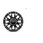 Fiat 500 Alufelgen Bicolor Schwarz Grau Matt 14 Zoll Original Zubehör 4 Stück