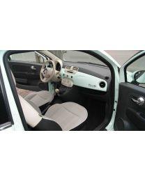 Fiat 500 Schaltknauf Elfenbeinfarben Leder inklusive Schaltsack Original Zubehör