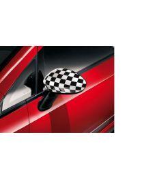 Fiat 500 & Punto Sport Kariert Schachbrettmuster Spiegelkappen Original Zubehör