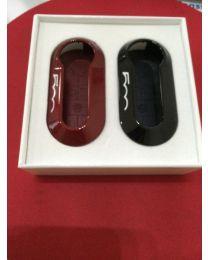 Fiat Schlüssel Cover rot & schwarz Original Zubehör 2er Set