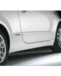 Fiat 500 Seitenschutzleisten Zierleisten Wunschfarbe + Emblem Original Zubehör